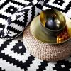 tapis motif aztèque décoration intérieur