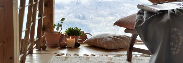 Ambiance cosy avec le chalet de montagne