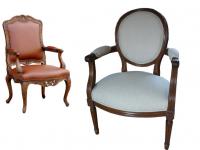 fauteuil ancien Louis XV / Louis XVI