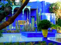 Décoration bleu majorelle