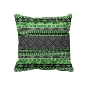 coussin décoration motif aztèque