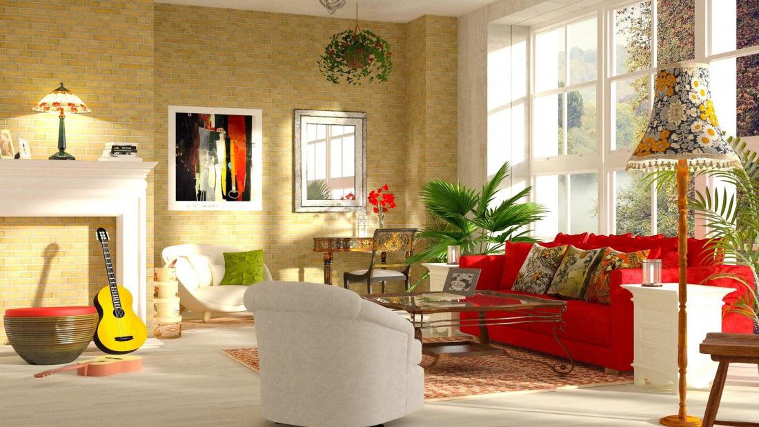 Quelle couleur de coussin pour un canapé rouge ?