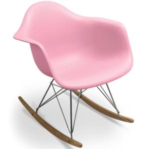 fauteuil-a-bascule-rose