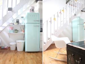 frigo menthe décoration intérieur