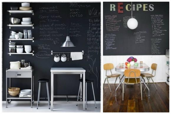 decoration cuisine tableau noir