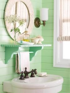 salle de bain menthe décoration