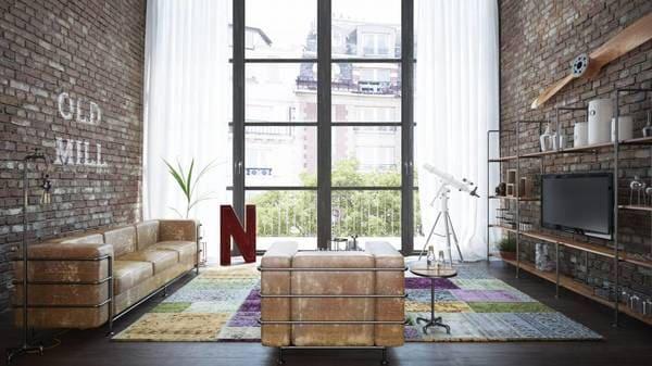 Salon loft industriel